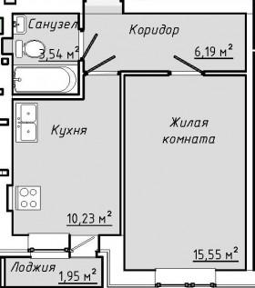 Квартира за 990000 в ЖК Парус