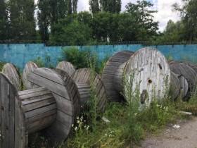 Бухта для кабеля, деревянный барабан