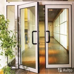 Маятниковая дверь двухстворчатая ш 1520 в 2520