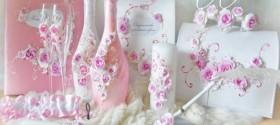 Свадебные бокалы, свадебные аксессуары Amaretto