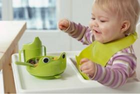 МАТА Набор детской посуды, 4 предм, зеленый