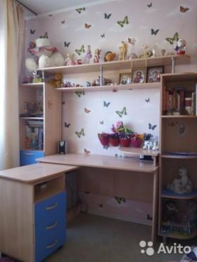 Компьютерный стол с полками+ шкаф-пенал