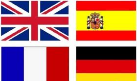 Английский, китайский, испанский, французский язык