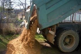 Песок. Вывоз мусора