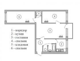 3-к квартира, 55 м², 4/5 эт., ул им Володарского 2а