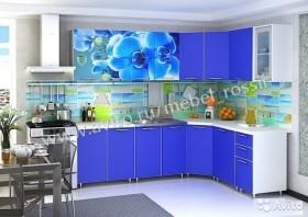 Угловая кухня с рисунком (цветы) Новая в наличии