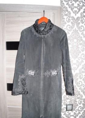 Пальто из натуральной замши