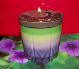Гелевые ароматные свечи ручной работы