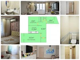 Продам 3-х комнатную квартиру 74 кв.м., мкр. Юбилейный, ул.70 лет Октября.