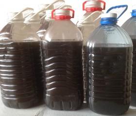 Отработанное гидравлическое масло