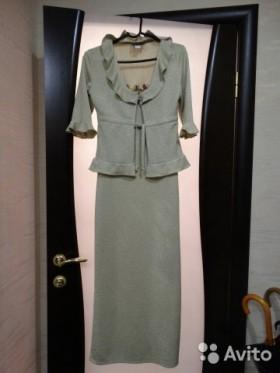 Новое длинное платье с кардиганом