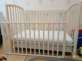 Кроватка-качалка фирмы Гандылян с матрасом