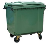 Мусорный пластиковый контейнер 1100