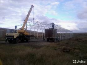 Строительство крытых зернотоков, складов