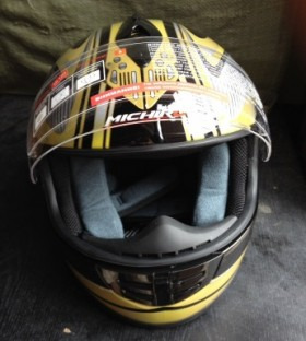 Мотошлем Michiru черно-жёлтый XS