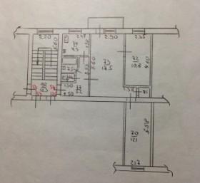 3-к квартира, 54.3 м², 3/5 эт. ул Рашпилевская, 183
