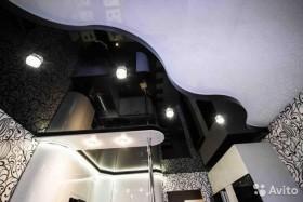 Натяжной потолок многоуровневый на кухню арт.12