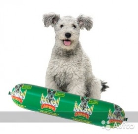 Hau-Hau Колбаса Champion Баранина-рис для собак