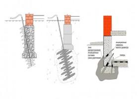 Проектирование усиления фундамента