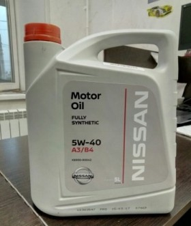 Масло моторное Nissan 5w40