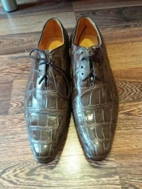 Мужские туфли из кожи морского крокодила