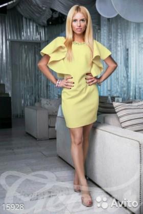 Платье лимонного цвета, р. 42-44