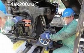 Мобильная установка для обточки колесных пар тепловозов и вагонов без выкатки