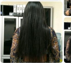 Наращивание волос. Микрокапсулы. Волосы славянка