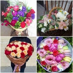 Дизайнерские букеты и цветы  с доставкой по Ростову и области.