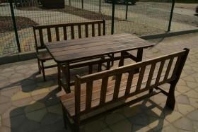 Садовый дачный уличный стол и скамья