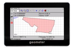 ГеоМетр S4 - точное измерение площади полей