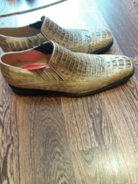 Мужские туфли из кожи крокодила