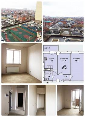 Продаю 2-х комнатную квартиру в Краснодаре, ЖК «Притяжение», ул. Московская, д.118 корпус 1