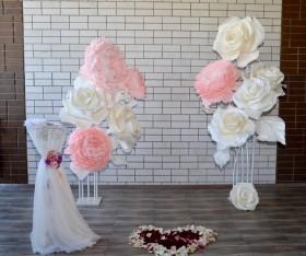 Украшение свадьбы или выездной регистрации Большими цветами
