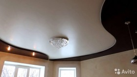 Натяжной потолок многоуровневый в спальню арт.16