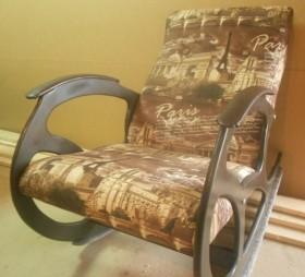 Кресло качалка Релакс, микровелюр цветной Париж