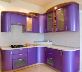 Сиреневый кухонный гарнитур