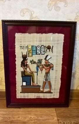 Папирус из Египта в красивой рамке