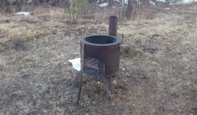 Продаю садовую печь под казан, мангал, вертел