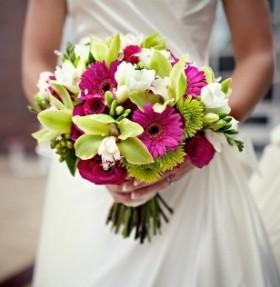 Свадебные букеты, оформление зала