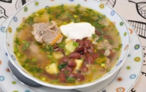 мясной суп с фасолью рецепт с фото