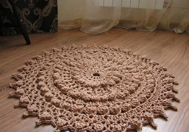 Рельефные ковры вязание крючком 89