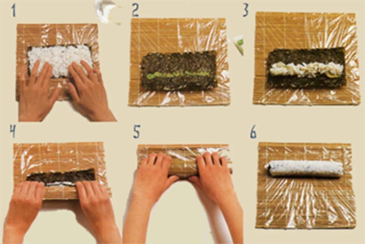 Как дома сделать роллы дома пошагово фото